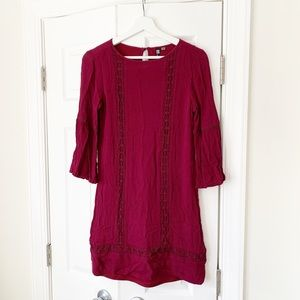LIKE NEW KUT from the Kloth Red Embroidered Dress